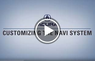 Customizing The Navi System in Acura's ODMD
